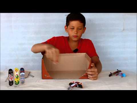 rampa de papel e caixa de sapato