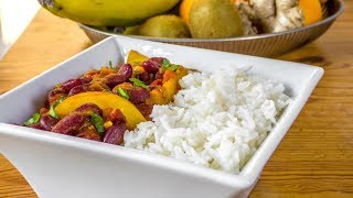 Afghan Lubia Recipe - Kidney Beans with Potatoes - Vegan Vegetarian