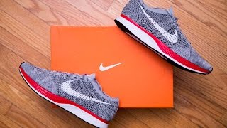 Nike Flyknit Racer Wolf Grey / No Parking Review and On Feet