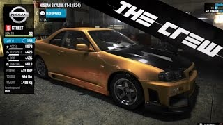 The Crew | Car Customization & Tuning - Nissan Skyline R34 GT-R, Visual, Performance (PS4) [HD]