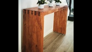 DIY Console/Hall table made of 2x4s