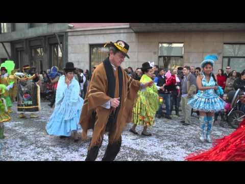 Bolivianos en Italia Carnevale 2013 a Bergamo