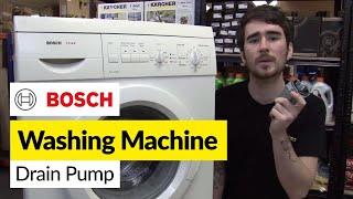 How to replace washing machine pump on a Bosch washer