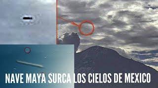 APARECE NAVE ESPACIAL CILINDRICA MAYA EN LOS CIELOS DE MEXICO