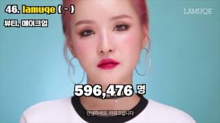 한국 유튜브 구독자 순위 TOP 50 (2017년 1월)