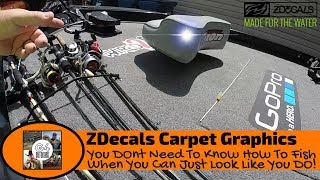 Bass Boat Carpet Decals | ZDecals Boat Carpet Graphics Review