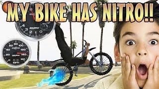 BMX TROLLING WITH NITRO BOOST MOD! (GTA 5 Mods)