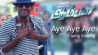 Aye Aye - Aambala | Song Making Video | Vishal,Hansika,Sundar C,Khushbu | Hiphop Tamizha