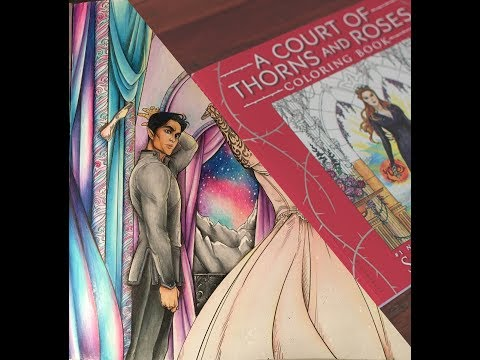 A COURT OF THORNS AND ROSES : COLOURING BOOK : FEYRE AND RHYSAND