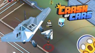 "F-117: OP BOMBER PLANE (Fused ""Car"") 🎮 Crash of Cars #87"