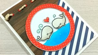 A Whale-y Fun Card | Lawn Fawn and Echo Park Paper Co.