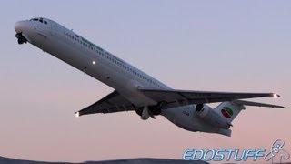 Bulgarian Air Charter - McDonnell Douglas MD-82 LZ-LDM - Sunset Takeoff from SPU/LDSP Split airport