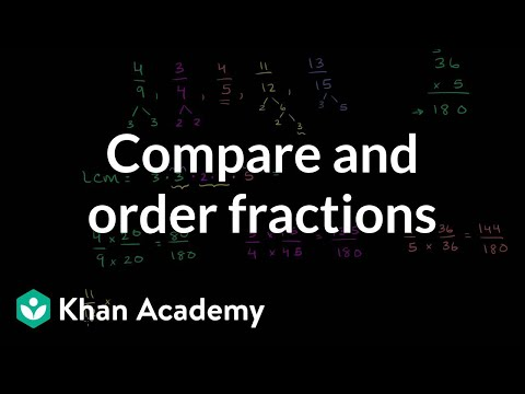Comparing and ordering fractions | Fractions | Pre-Algebra | Khan Academy