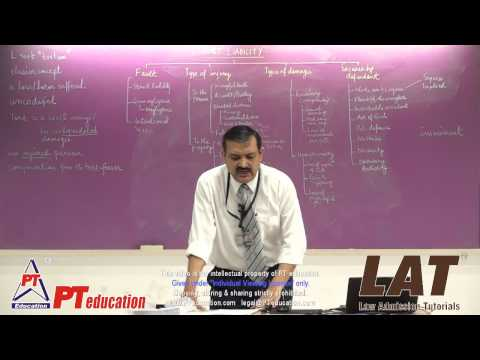 The Law of Torts - Legal Aptitude lecture - PT Education - LAT - by Sandeep Manudhane