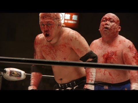 Chewing GLASS Worlds BLOODIEST Wrestling from Japan by ADEYTO