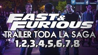 Rapido y Furioso 1,2,3,4,5,6,7 y 8 [TODOS LOS TRAILERS]🏁