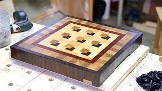 Making a custom 3D end grain cutting board #7