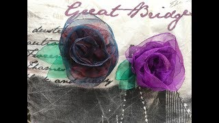 DIY Beautiful Organza Rose