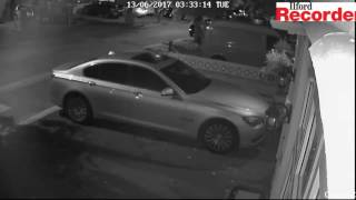 CCTV footage of thieves stealing a Mercedes in Redbridge