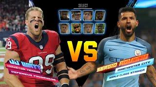 J.J. Watt & Sergio Aguero Go Head to Head in a Kicking Competition | NFL vs. Premier League