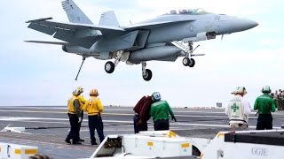 F/A-18 Actions: U.S. Marine Aircraft Carrier Qualification