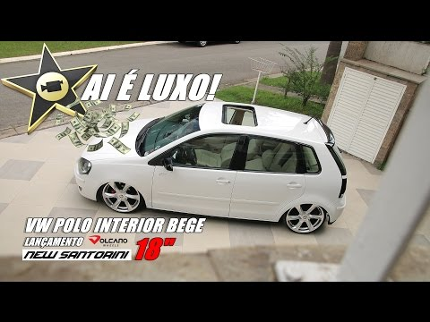 AI É LUXO VW POLO INTERIOR BEGE FIXA NEW SANTORINI ARO 18 VOLCANO WHEELS 7008FILMS BRASIL