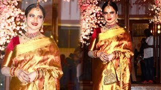 Beautiful Rekha Spotted At A Bollywood Wedding Reception