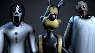 [SFM/FNAF] Top 3 My Dear Friend Slendrina Granny Bendy & Boris Animations