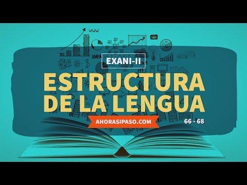 Guía EXANI-II   Estructura de la lengua (66, 67 y 68)