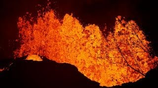 Lava from Hawaii volcano reaches the edge of a power plant