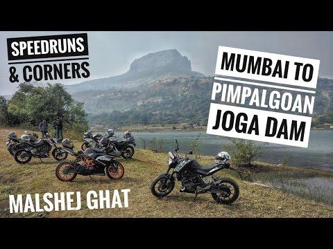 Mumbai to Pimpalgoan Dam | Malshej ghat | Cornering | Speed runs | Deep valleys
