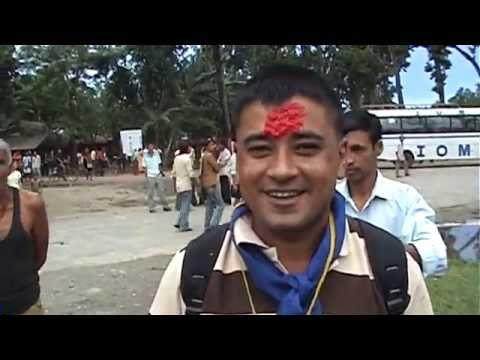 Bhutani refugee leaving [Nepal] Bhutani refugee camp