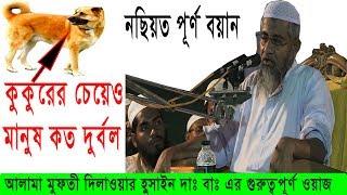 কুকুরের চেয়েও মানুষ কত দুর্বল [ওয়াজটি জীবন পাল্টে দিবে ]Bangla waz  Mufti Dilwar Hussain