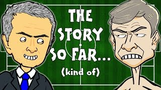 MONTAGE!!! 🇫🇷Wenger vs Mourinho🚍 (Chelsea vs Arsenal Preview 2015 funny cartoon)