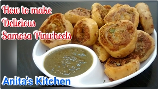 Aloo Bhakarwadi recipe -Samosa pinwheels recipe - quick party snack recipe