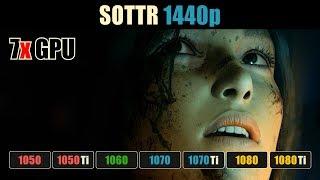 Shadow of the Tomb Raider GTX 1050 Ti vs. 1060 vs. 1070 vs. 1070 Ti vs. 1080 vs. 1080 Ti 1440p