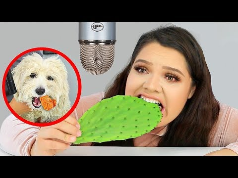 Xxx Mp4 I Tried ASMR Again Eating Raw Cactus Slime Fried Chicken Sticky Crunchy Sounds 3gp Sex