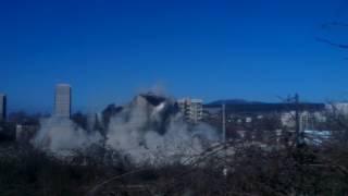 Разрушаване на охладителна кула на територията на ТЕЦ Перник