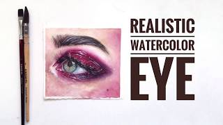How To Paint a Realistic Eye - Watercolor (speedpaint)