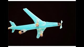 How to Make a Airplane Using DC Motor and drinking Straws