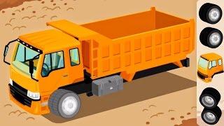 Trucks for Children Kids - Construction Game Cartoon for Children | Learm Videos for Kids