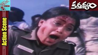 Vijayashanti Wounded In Voilence Scene    Kartavyam Movie    Vijayashanti    MovieTimeCinema