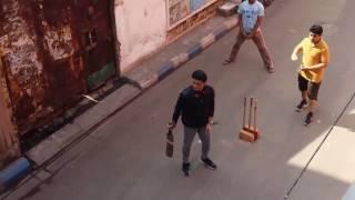 Sourav Ganguly Plays Gali Cricket