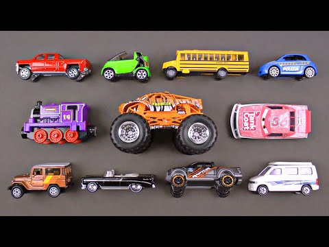 Learning Colors Cars Trucks Street Vehicles for Kids Hot Wheels Tomica Disney Organic Learning