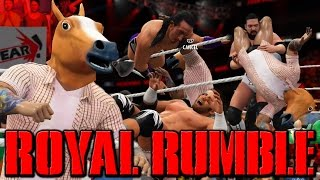 30 WRESTLERS IN ONE MATCH !?! EPIC 30 MAN ROYAL RUMBLE MATCH (WWE 2K16)