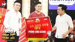 Thách thức danh hài 3 | tập 8: nói nhanh không vấp, Vinh Quang ẵm trọn 40 triệu