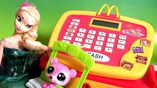 Caixa Registradora do McDonalds com a Peppa Pig e a Princesa Elsa TOYSBR CASH REGISTER TOY