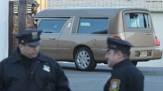 Whitney's hearse arrives at New Hope Baptist Church