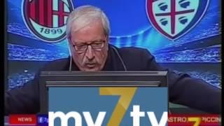 DirettaStadio 7Gold Milan Cagliari 1-0 Crudeli esulta: BACCA BACCA