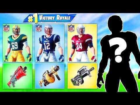 RANDOM NFL SKIN Challenge in Fortnite Battle Royale